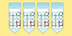 Numeracy Themed Sticker Reward Bookmarks 15mm