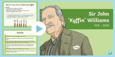 Kyffin Williams Information and Tasks PowerPoint