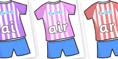 Phase 3 Phonemes on Football Strip