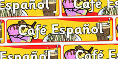 Spanish Cafe Espanol Display Banner