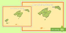 Póster DIN A2: Las Islas Baleares