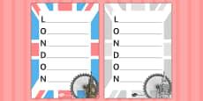 Lovely London Acrostic Poem