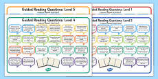 Levelled Guided Reading Questions Mats Arabic Translation