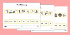 Verbs Matching Activity Sheet