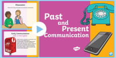 Communication Past and Present PowerPoint