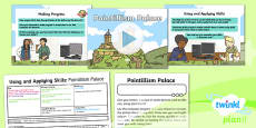 PlanIt - Computing Year 2 - Using and Applying Skills Lesson 1: Pointillism Palace Lesson Pack
