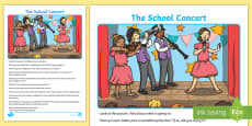 * NEW * The School Concert Oral Language Activity Sheet