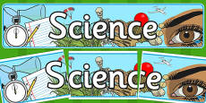 Science Display Banner