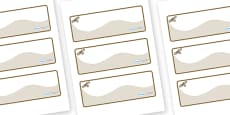 Buzzard Themed Editable Drawer-Peg-Name Labels (Colourful)
