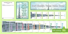 Burj Khalifa Times Table Tower Display Pack -