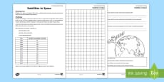 * NEW * Satellites in Space Activity Sheet