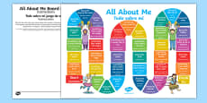 All About Me Board Game Spanish Translation
