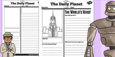 The Iron Man Newspaper Report Differentiated Activity Sheets