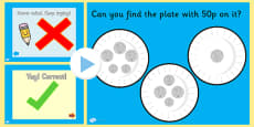 Money Matching PowerPoint Activity Up To £1