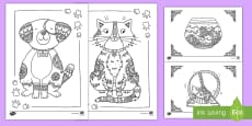 Pets Mindfulness Coloring Activity