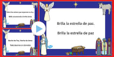 Silent Night Christmas Carol Lyrics PowerPoint Spanish