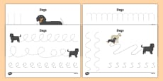 Dog Themed Pencil Control Sheets