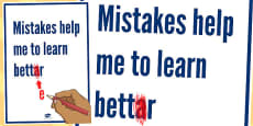 Mistakes Help Me to Learn Better Motivational Poster