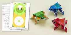 Enkl Origami Frog Printable