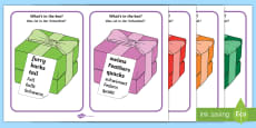* NEW * 'What's In The Box?' Drawing Inferences Cards Words Only
