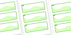 Rock Pool Themed Editable Drawer-Peg-Name Labels (Colourful)
