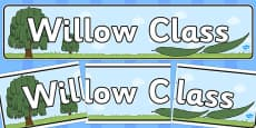 Willow Class Display Banner