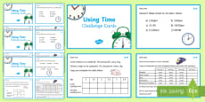 Using Time Maths Differentiated Challenge Cards