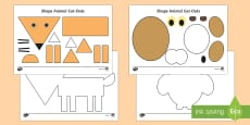 2D Animals Activity Sheets to Support Teaching on The Gruffalo's Child