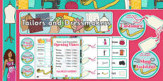 Tailors and Dressmakers Shop Role Play Pack