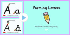 Norwegian Letter Formation PowerPoint