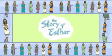 The Story of Esther Bible Story Display Borders