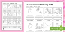 Valentine's Day Vocabulary Activity Sheet