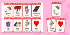 Valentine's Day Flashcards Romanian Translation