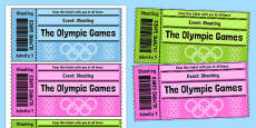 The Olympics Shooting Event Tickets