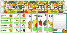 Fruit and Vegetable Shop Role-Play Pack