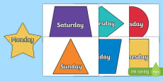 Days of the Week on 2D Shapes