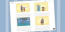 Pinocchio Storyboard Template
