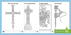 Monastic Treasures Colouring Pages