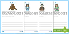 Beauty and the Beast Character Description Activity Sheets