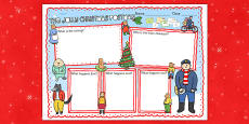 Book Review Writing Frame to Support Teaching on The Jolly Christmas Postman
