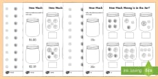 How Much Money is in My Money Jar? Activity Sheet