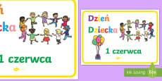 Plakat Dzień Dziecka 1 czerwca