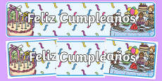 Birthdays Display Banners Spanish