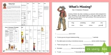 Year 4 Grammar: Pronouns Working From Home Activity Booklet