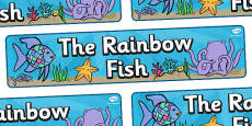Display Banner (Simple) to Support Teaching on The Rainbow Fish