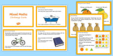 UKS2 Mixed Maths Challenge Cards