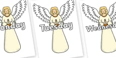 Days of the Week on Christmas Angels