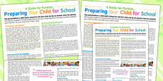 Preparing Your Child For School - A Guide For Parents Poster