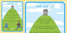 Australia - Jack and Jill Nursery Rhyme Poster