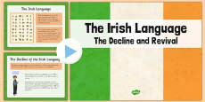 The Irish Language Decline and Revival Informative PowerPoint